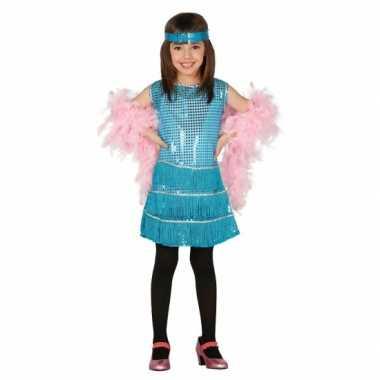 Glitter jurkje blauwe pailletten