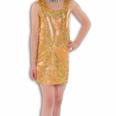 Gouden glitter jurkje meisjes