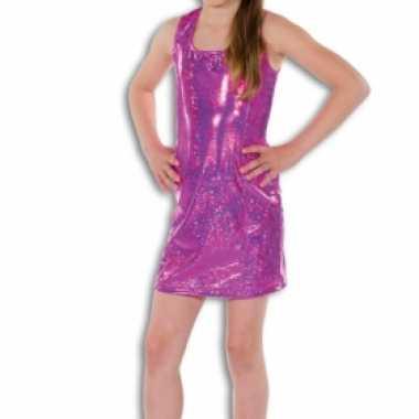Roze glitter jurkje meisjes