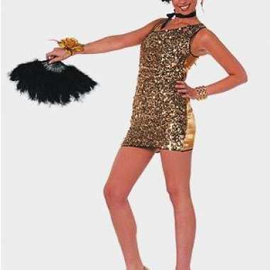 Sexy jurkje goud pailletten