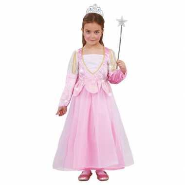 Voordelig roze glitter prinsessen jurkje