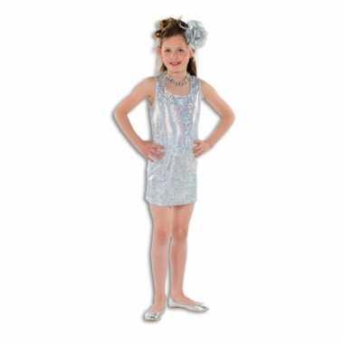 Zilveren glitter jurkje meisjes