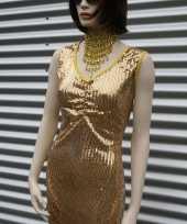 Glitter jurkje goud dames